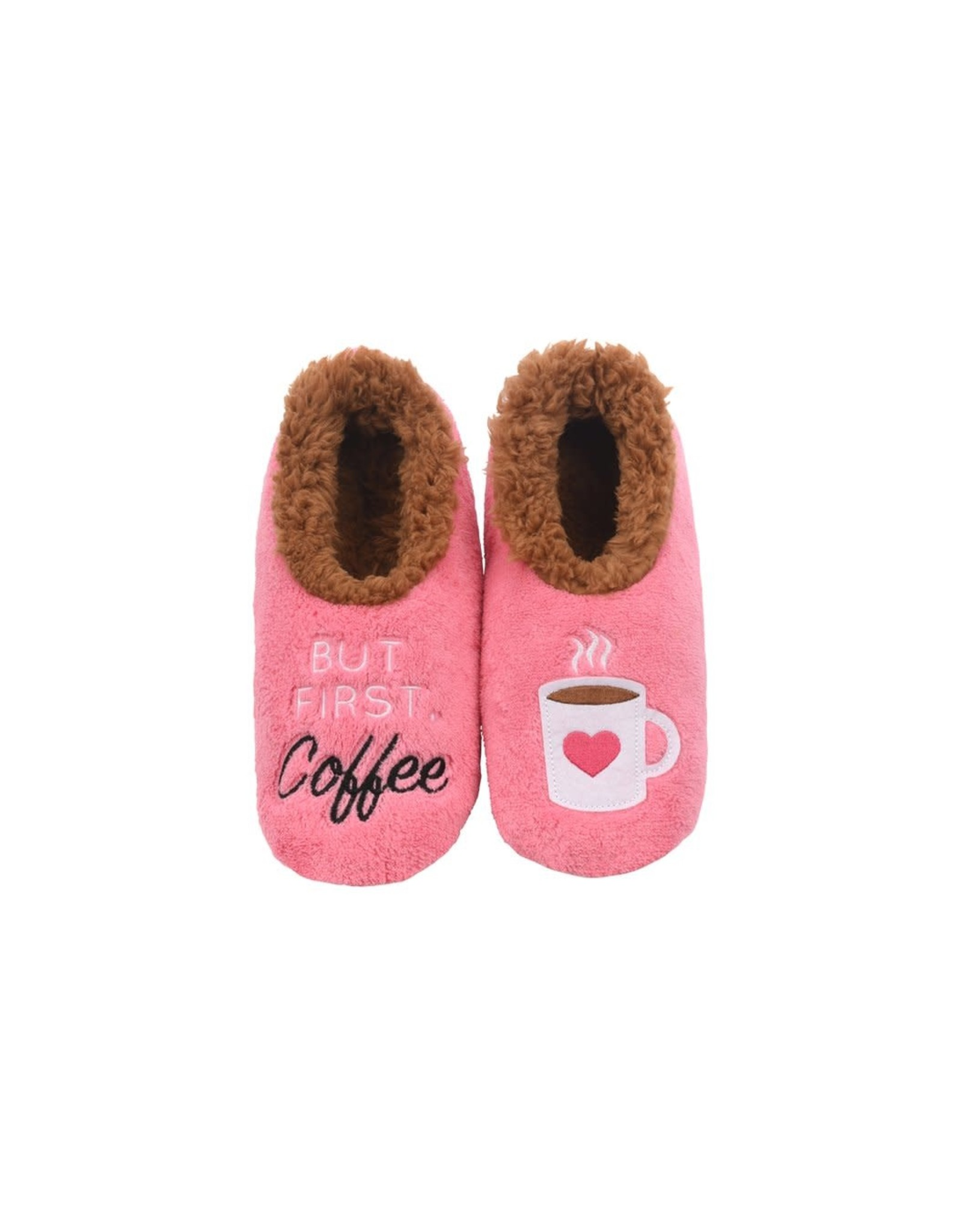 Snoozies Soft Plush Women Snoozies, But First Coffee