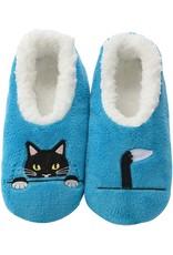 Snoozies Soft Plush Women Snoozies, Peek-A-Boo Cat