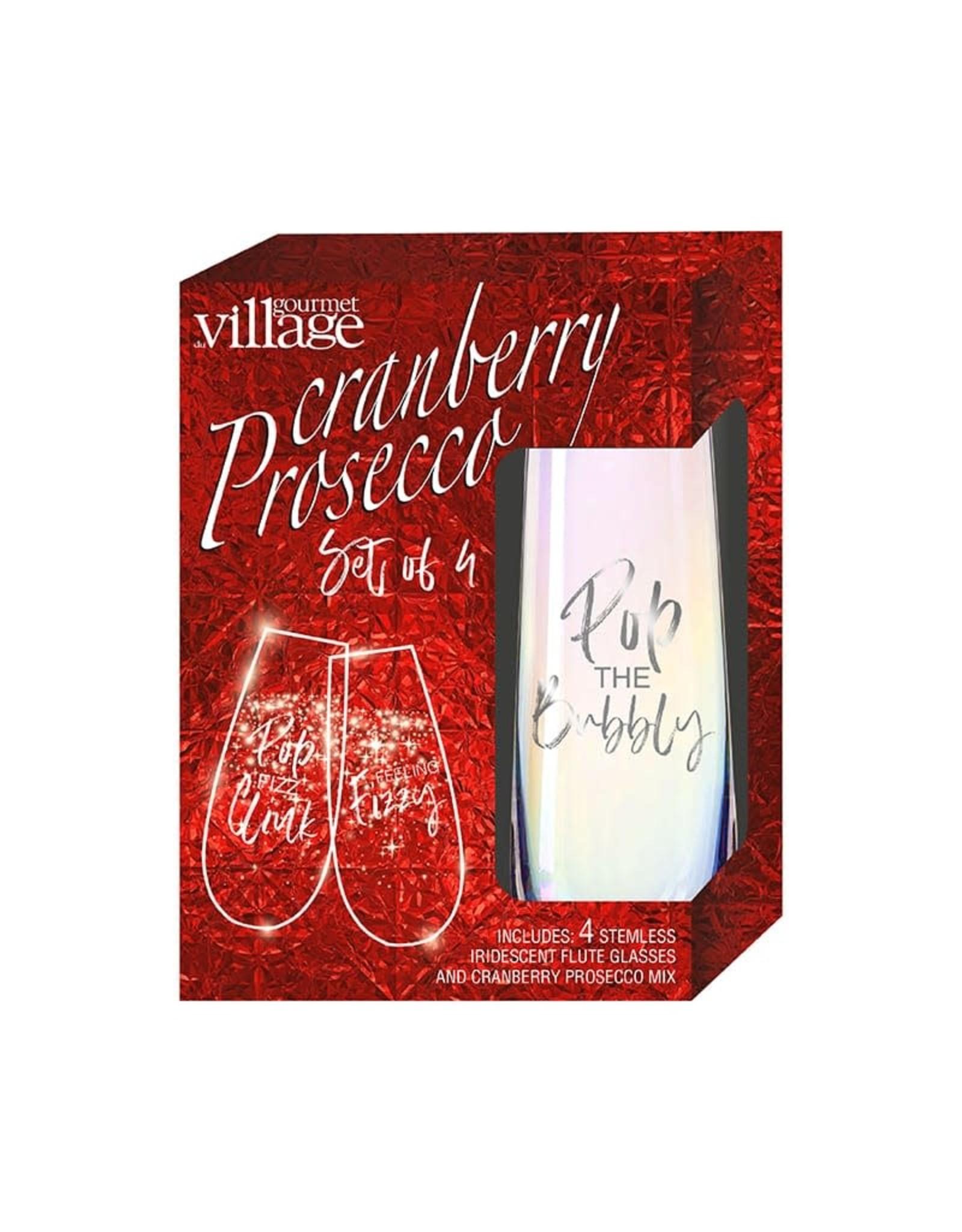 Gourmet du Village Cranberry Prosecco, Set Of 4