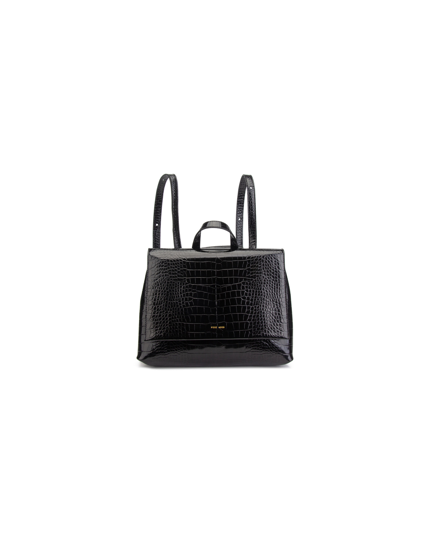 Janice Backpack Small, Croc Black