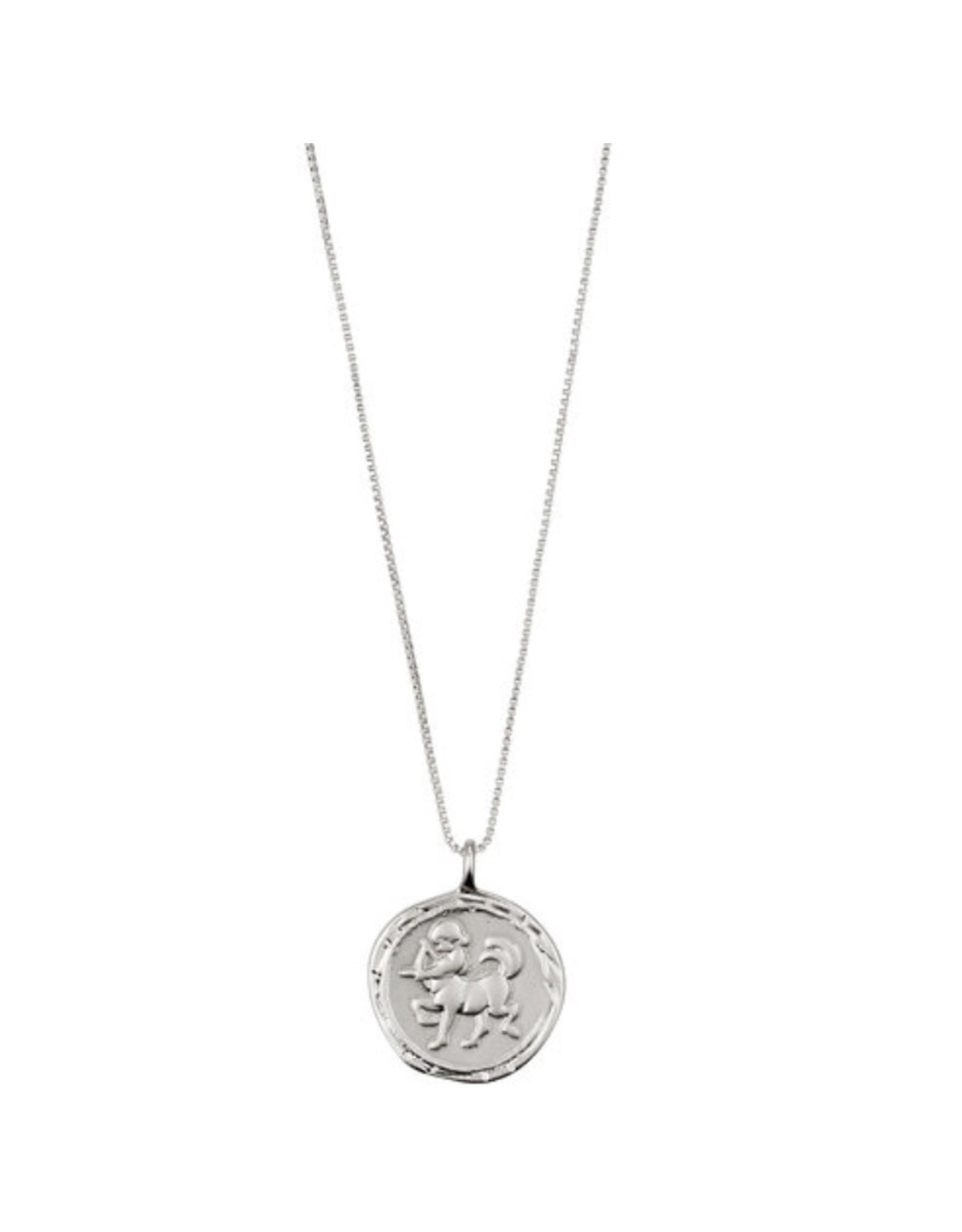 Pilgrim Necklace Silver Plated, Sagittarius