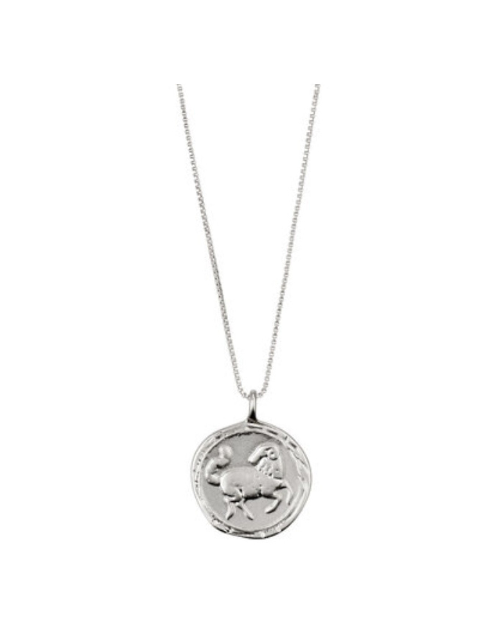 Pilgrim Necklace Silver Plated, Aries