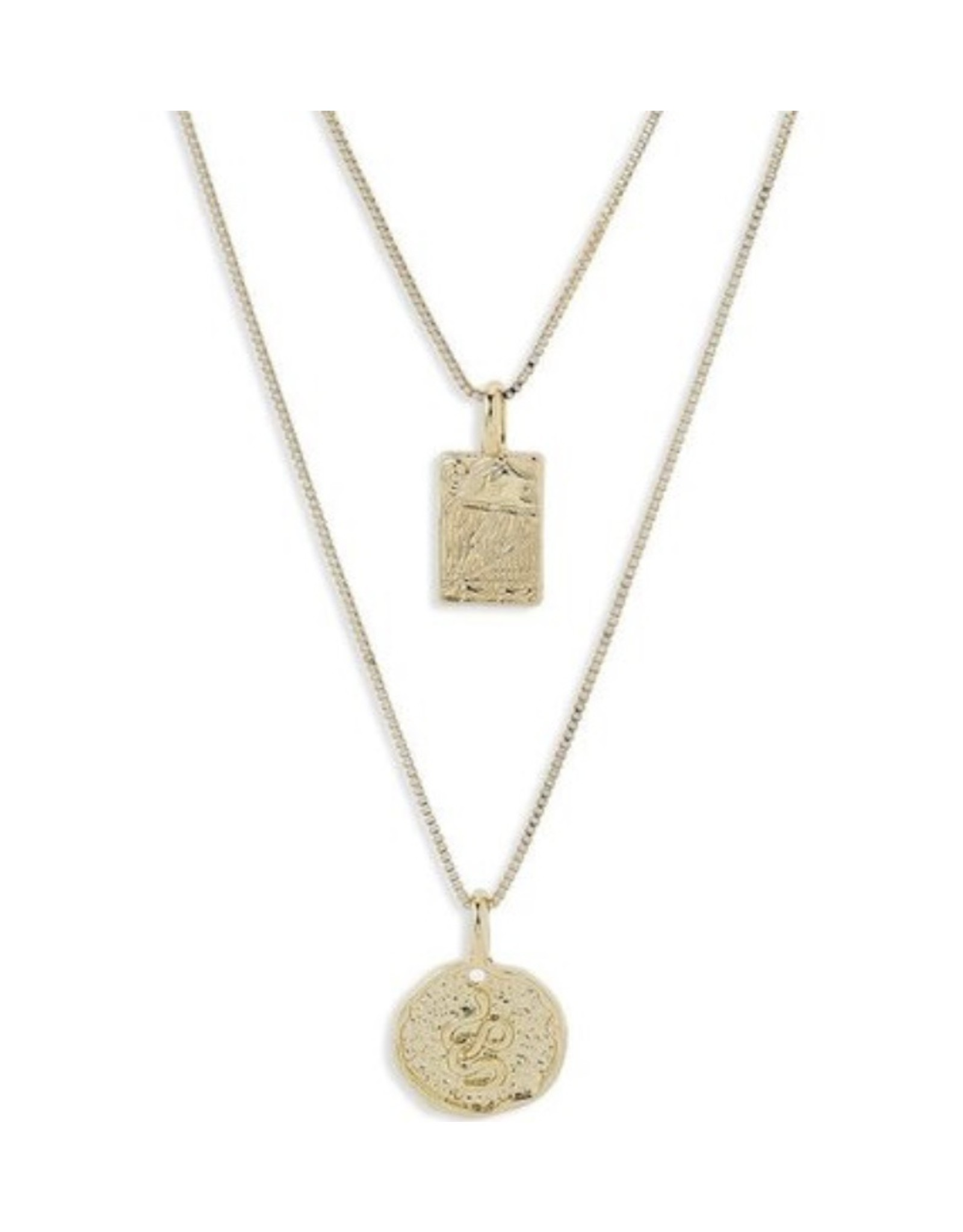 Pilgrim Necklace Valkyrai PI, Gold Plated