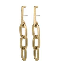 Pilgrim Earrings Halle, Gold Plated