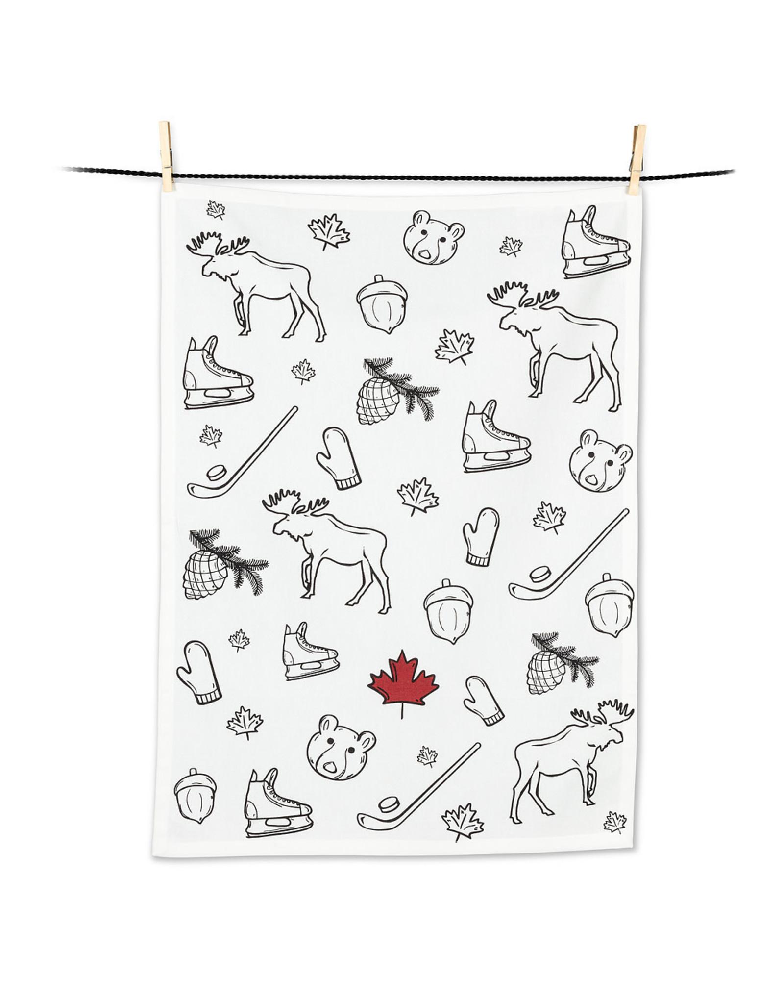 Canada Icons Tea Towel