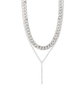 Pilgrim Necklace Radiance, Silver Plated Crystal