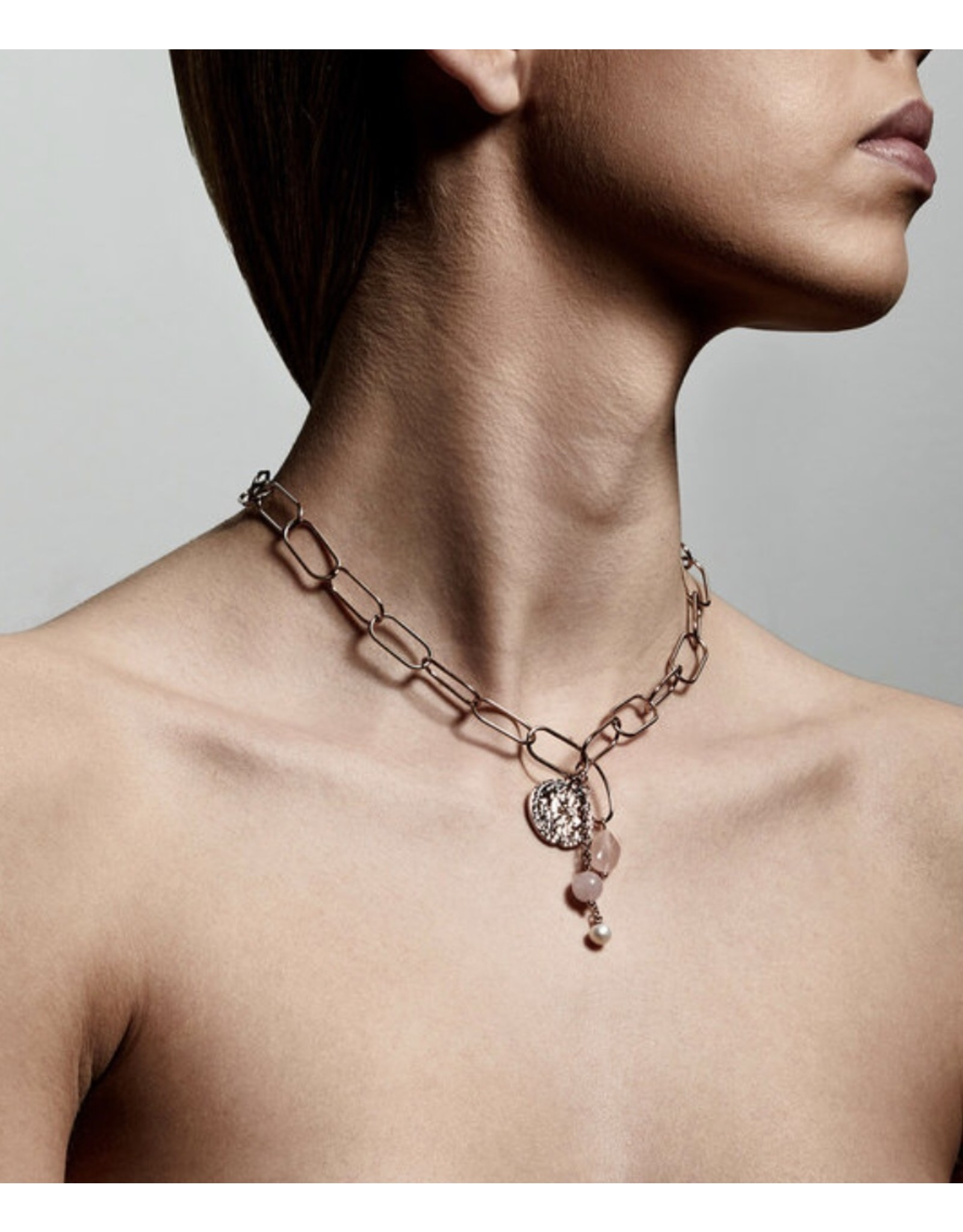 Pilgrim Necklace Warmth Rose Gold Plated Rose