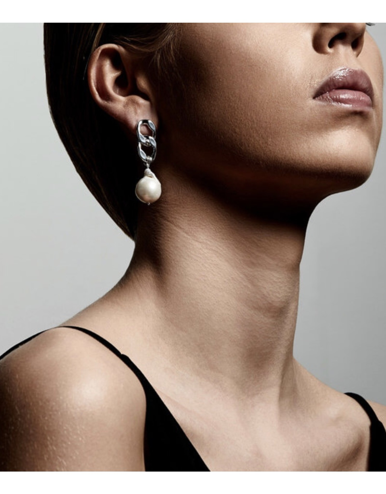 Pilgrim Earrings Gracefulness, Silver Plated White