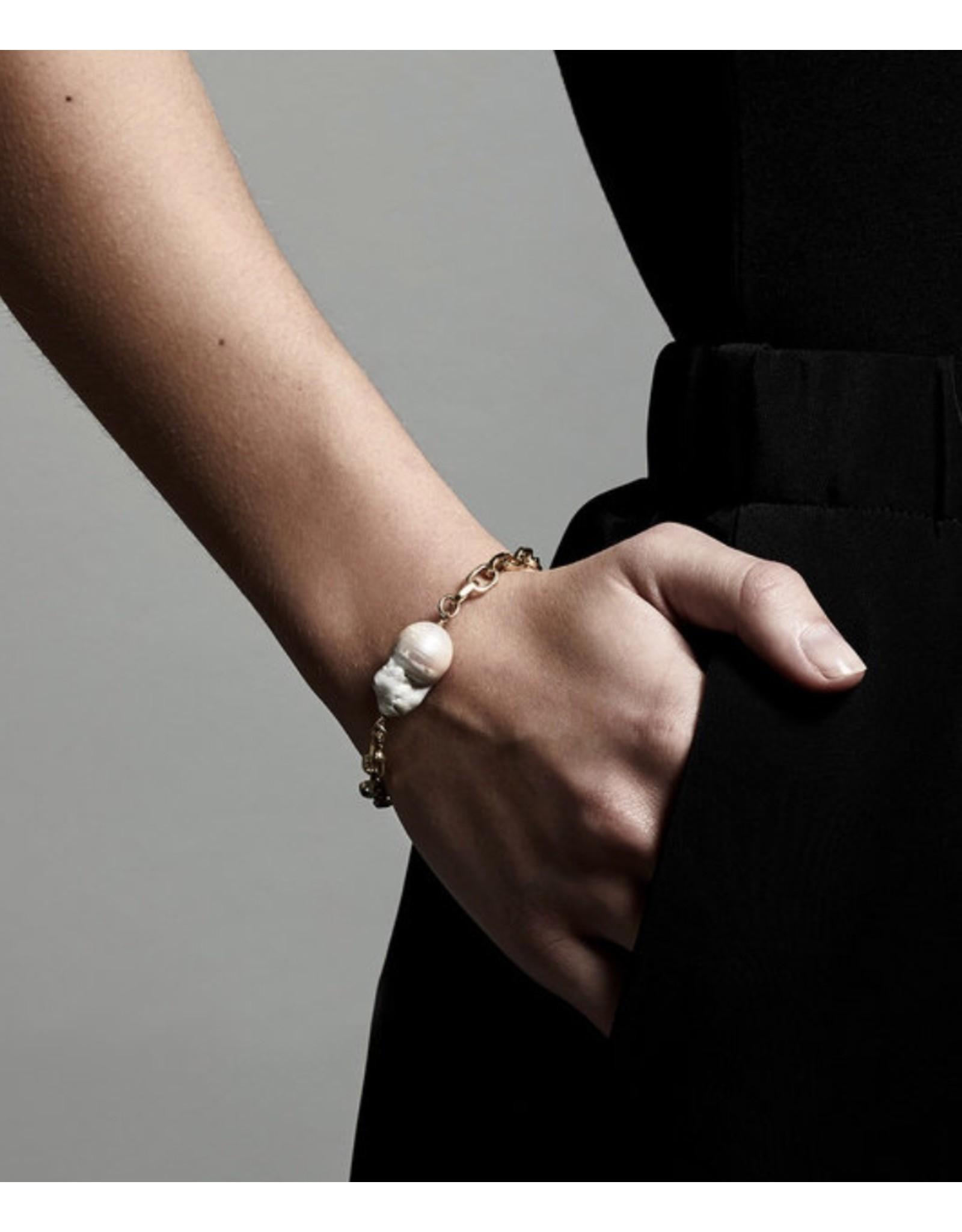 Pilgrim Bracelet Gracefulness, Gold Plated White