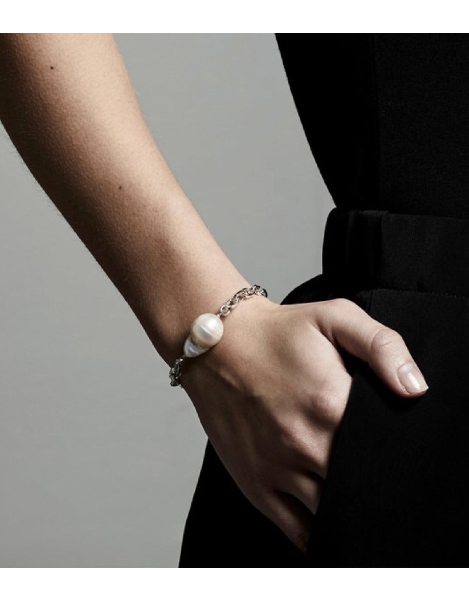 Pilgrim Bracelet Gracefulness, Silver Plated White