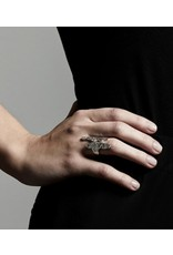pilgrimn Ring Compassion, Silver Plated