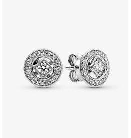Pandora Pandora Earrings,290721CZ, Vintage Circle Stud