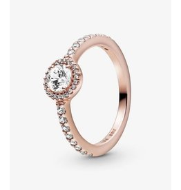 Pandora Pandora Ring,188861C01, Classic Sparkle Halo, Rose Gold