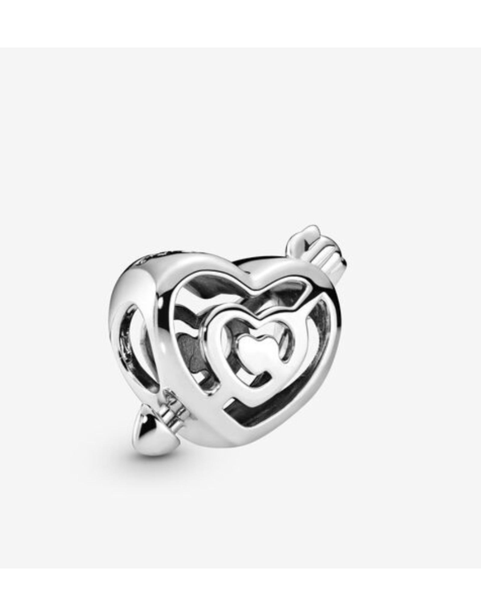Pandora Pandoara Charm,797814, Labyrinth Heart And Arrow