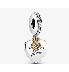 Pandora Pandora Charm,792042CZ, Dangle Love You Forever 14K Gold