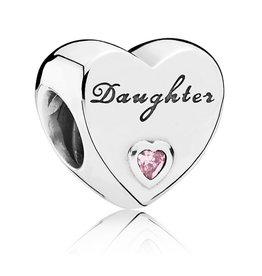 Pandora Pandora Charm,791726PCZ, Daughter's Love, Pink CZ