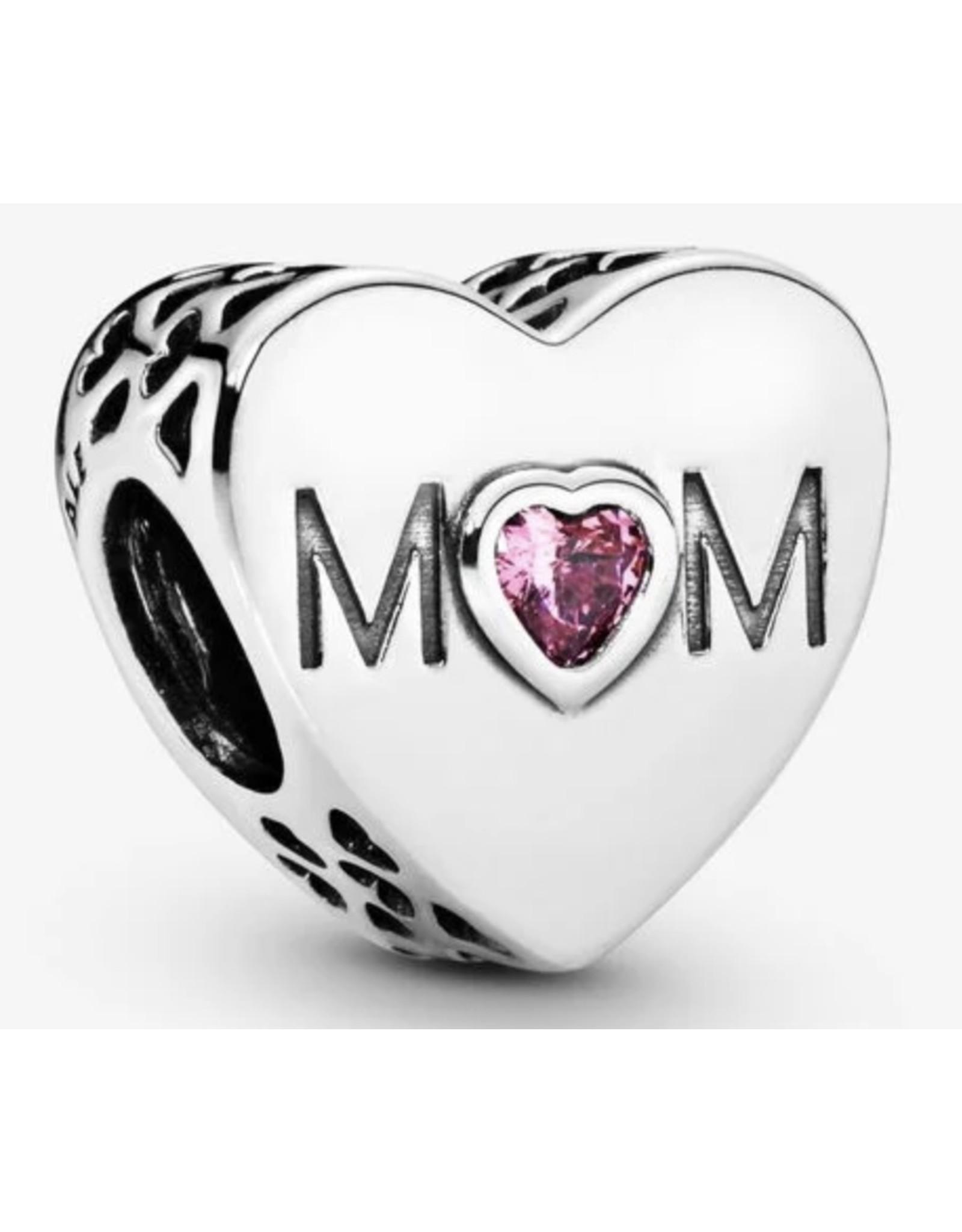 Pandora Pandora Charm,791881PCZ, Mother Heart Pink CZ