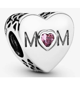Pandora Pandora Charm,791881PCZ, Mother Heart Pink CZ