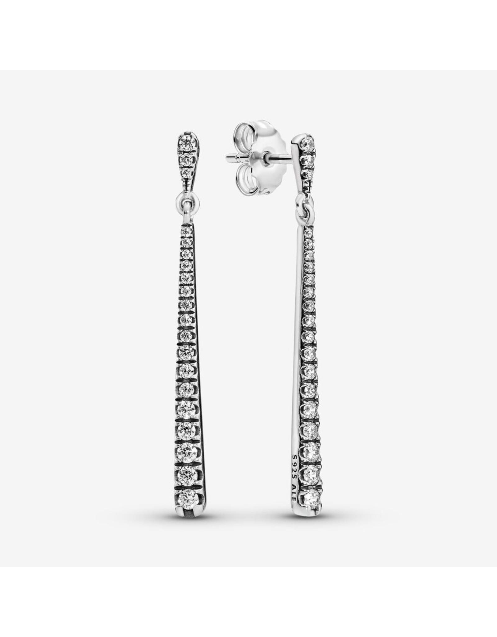 Pandora Pandora Earrings,296351CZ, Sparkling Stones Hanging