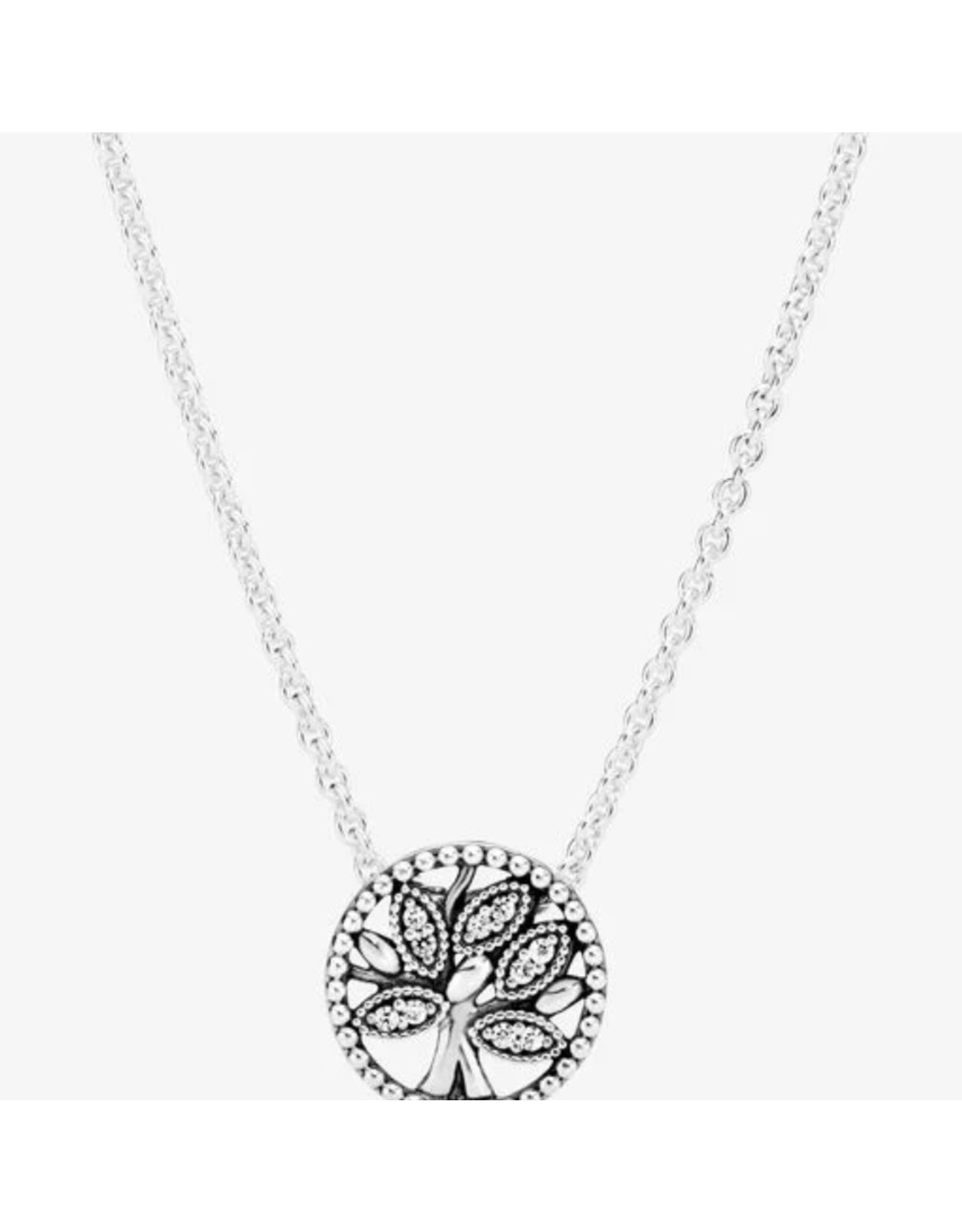 Pandora Pandora Necklace,397780CZ-45,Tree Of Life Clear CZ