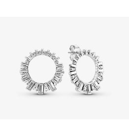 Pandora Pandora Earrings	,297545CZ,Ice Cube