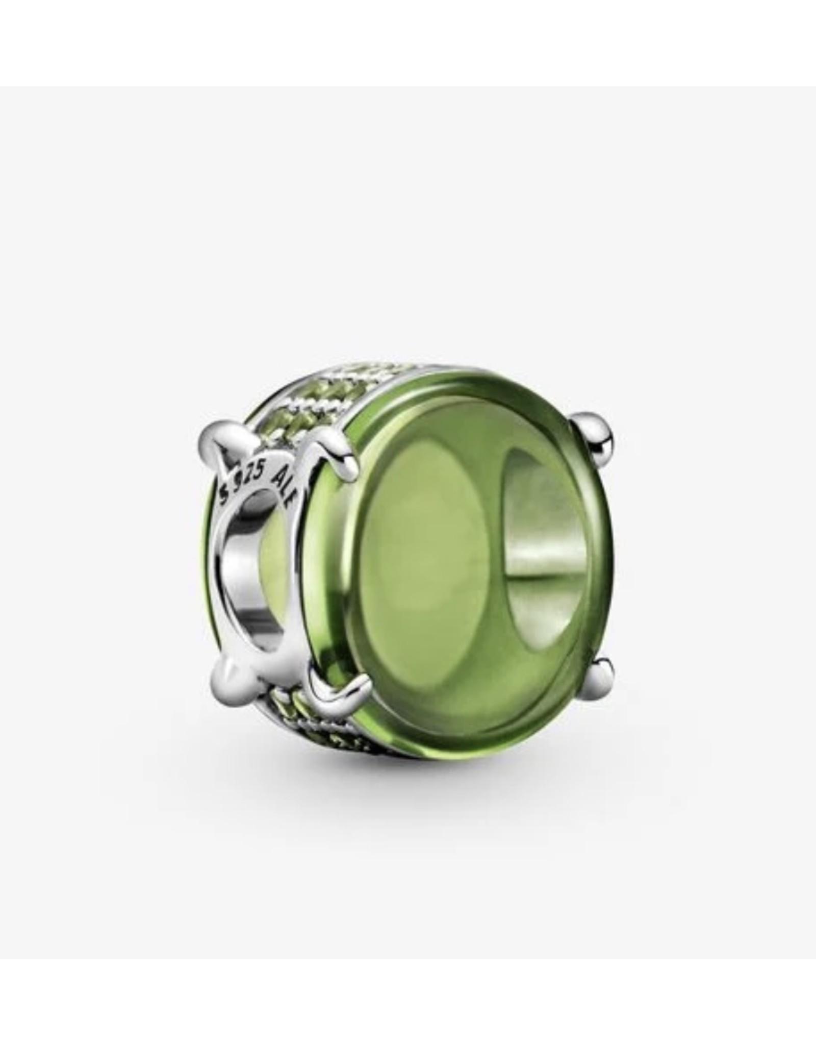 Pandora Pandora Charm,799309C02,Oval Cabochon, Green Crystal