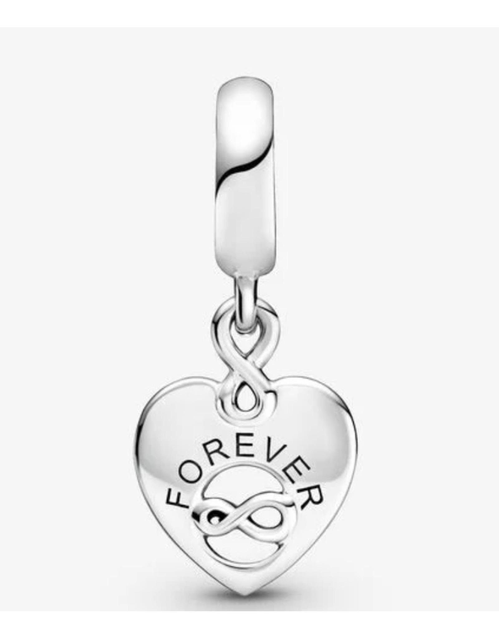 Pandora Pandora Charm,799294C01, Friends Forever Heart, Clear CZ