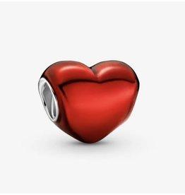 Pandora Pandora Charm,799291C02, Metallic Red Heart, Red Enamel