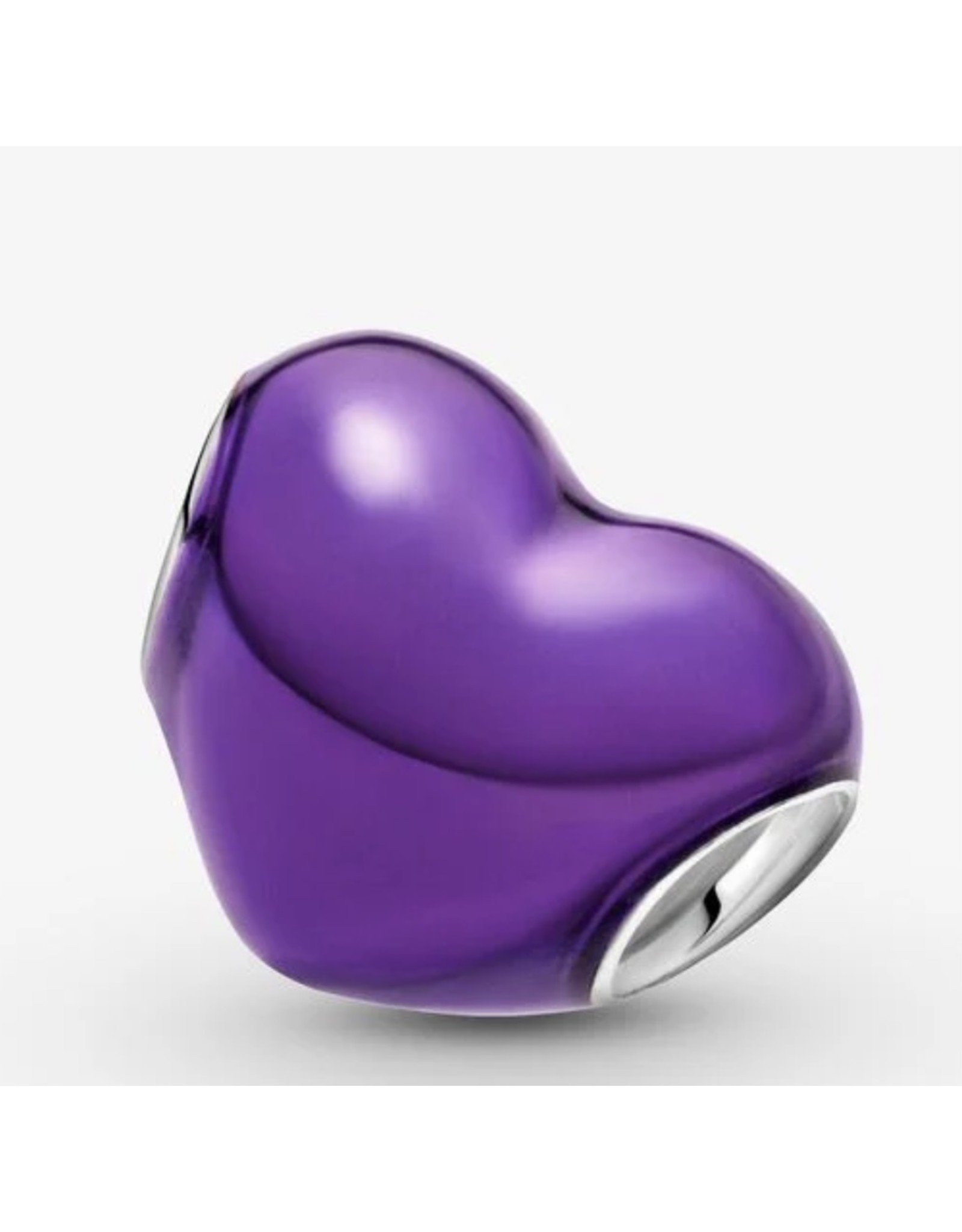 Pandora Pandora Charm,799291C01, Metallic Purple Heart, Mauve Enamel