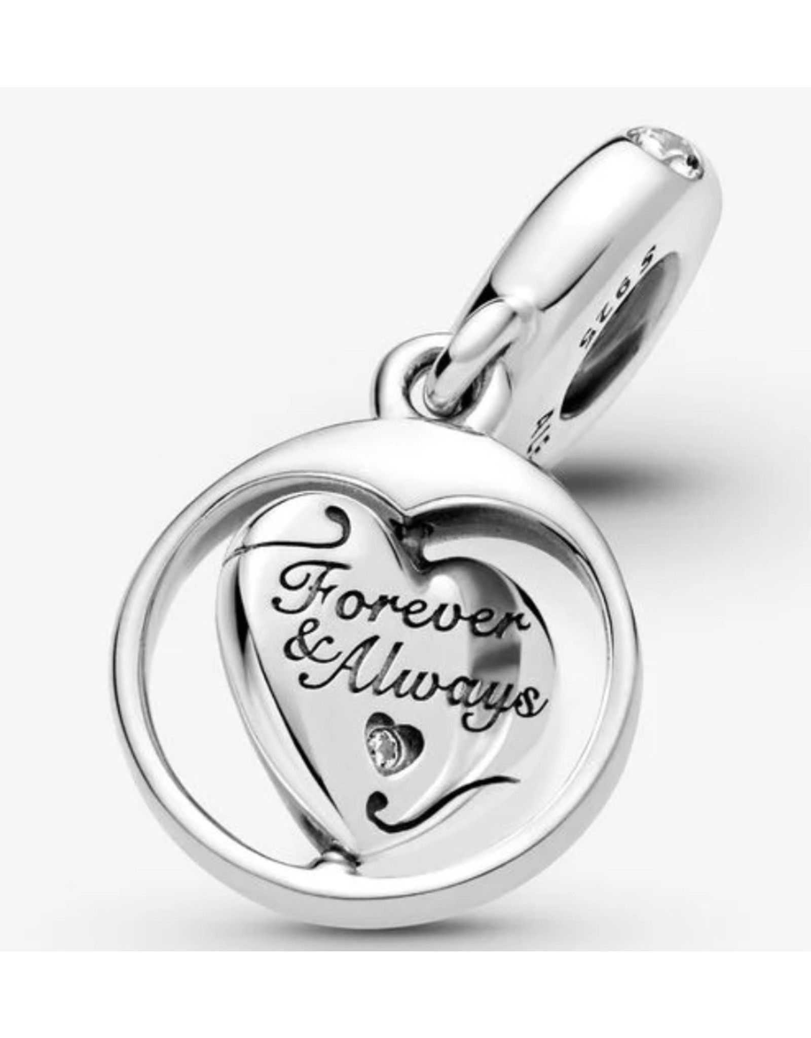 Pandora Pandora Charm,799266C01, Spinning Forever & Always Soulmate, Clear CZ