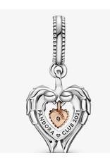 Pandora Pandora Charm,789296C01, Pandora Club 2021 Angle Wing & Heart Diamond