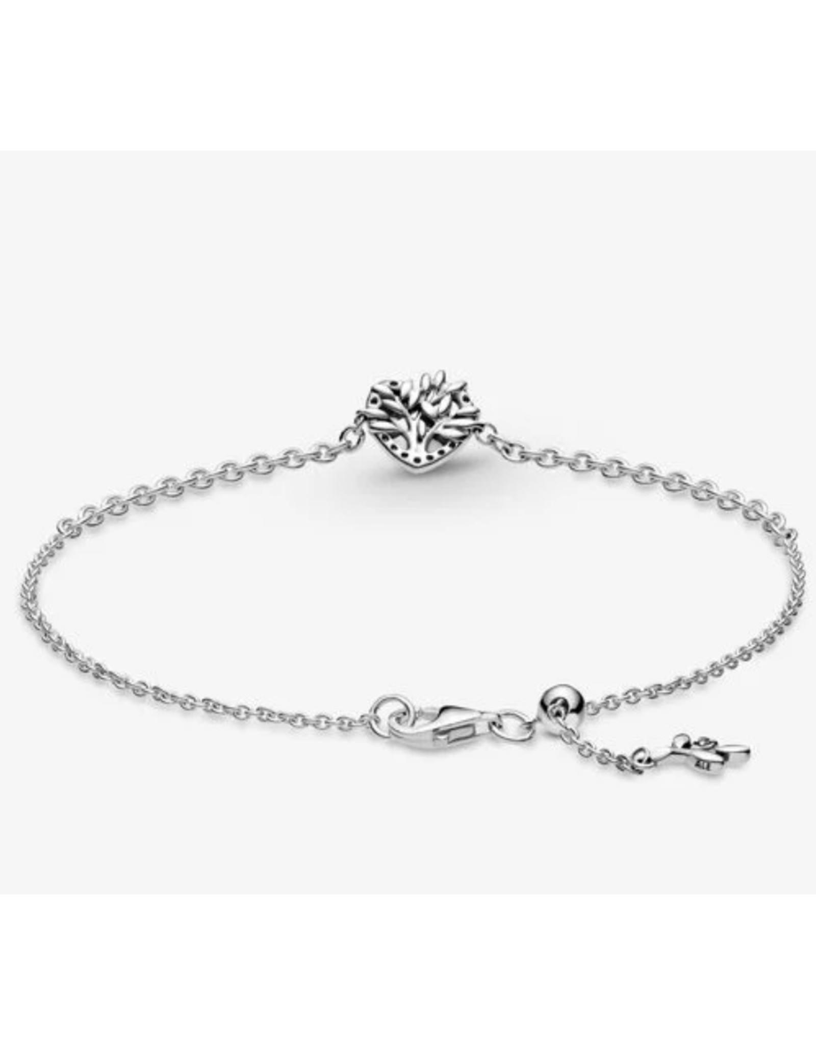 Pandora Pandora Bracelet,599292C01-20, Family Tree Chain Bracelet, Clear CZ