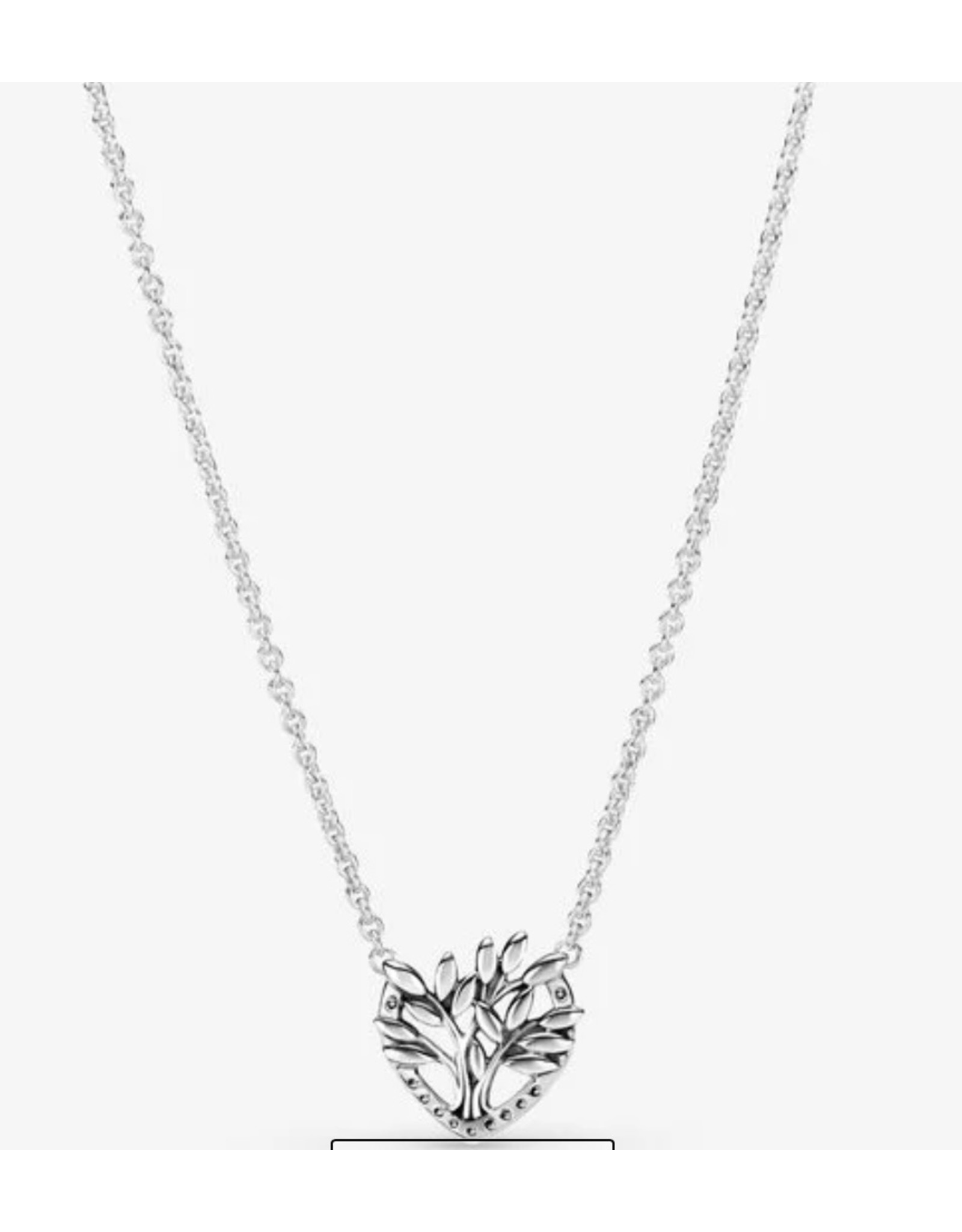Pandora Pandora Necklace,399261C01-50, Heart Family Tree, Clear CZ