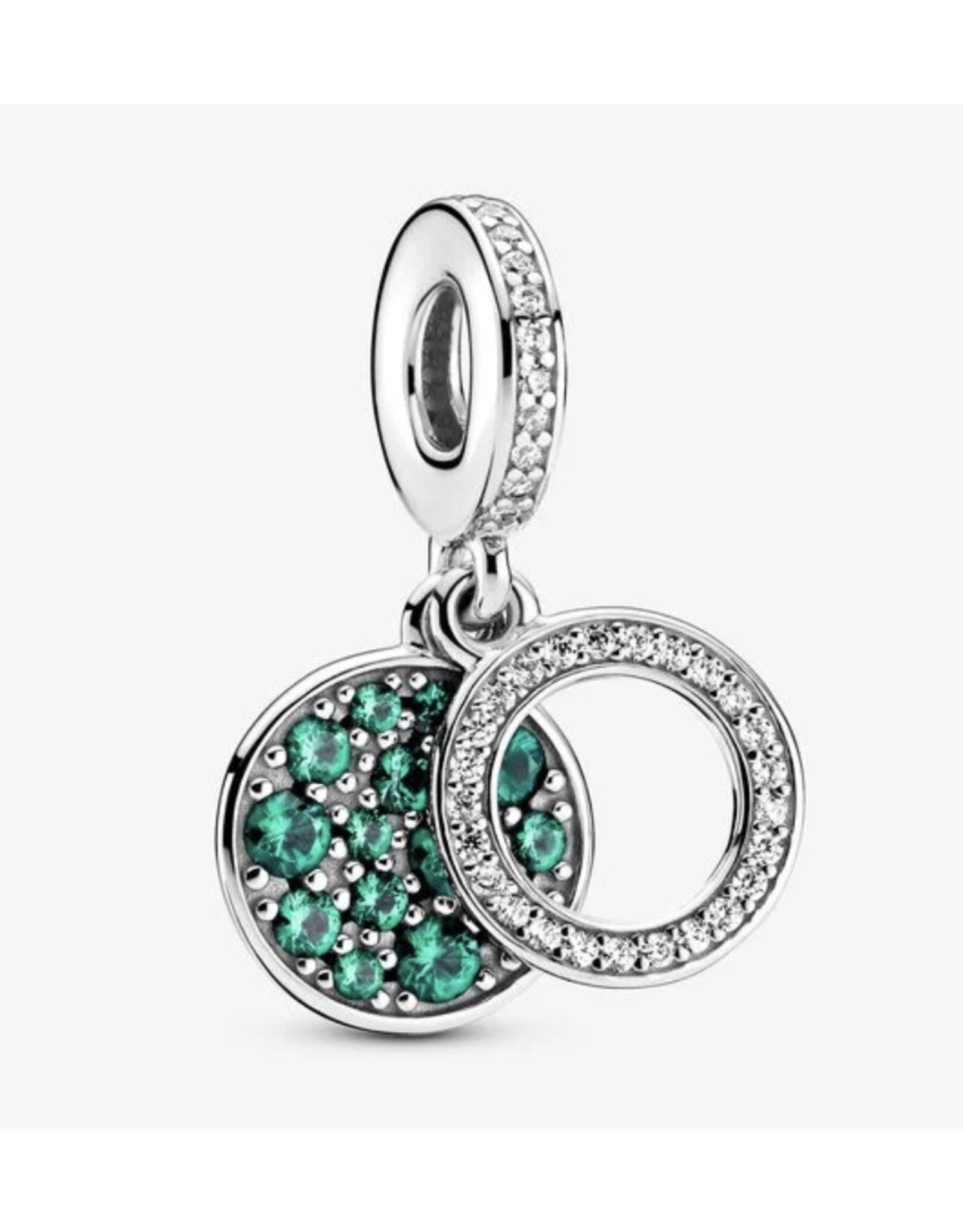 Pandora Pandora Clip,799186C02, Sparkling Green Disc, Clear CZ