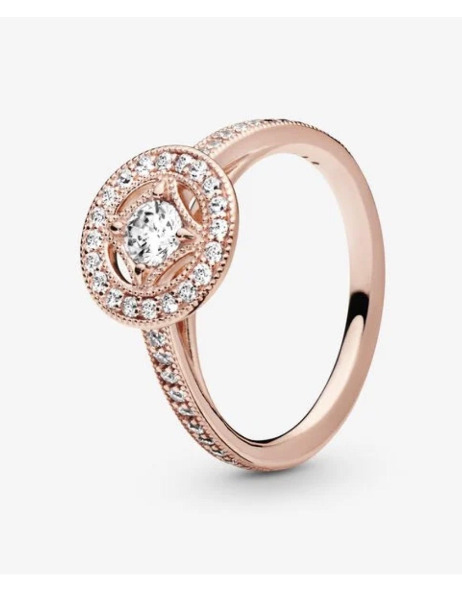 Pandora Pandora ring,181006CZ, Multigrain Details, Rose Gold