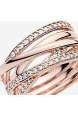 Pandora Pandora Ring,180919CZ, Entwined, Rose Gold