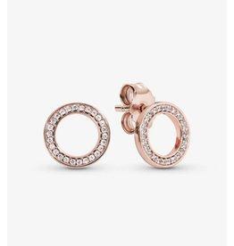Pandora Pandora Earrings, 280585CZ, Forever Pandora, Rose Gold