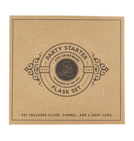 Santa barbara Cardboard Book Set-Flask