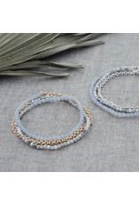 Glee jewelry Cici Bracelet, Silver/Howlite/Blue Lace Agate