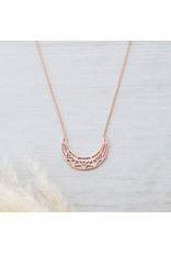 Glee jewelry Electra Necklace, Rose Gold