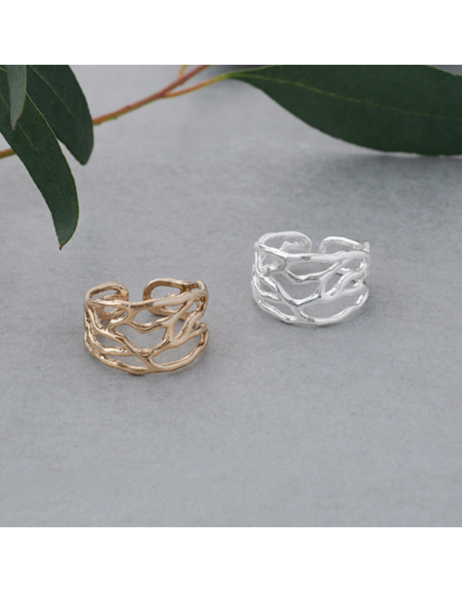 Glee jewelry Intertwined Ring, Sliver