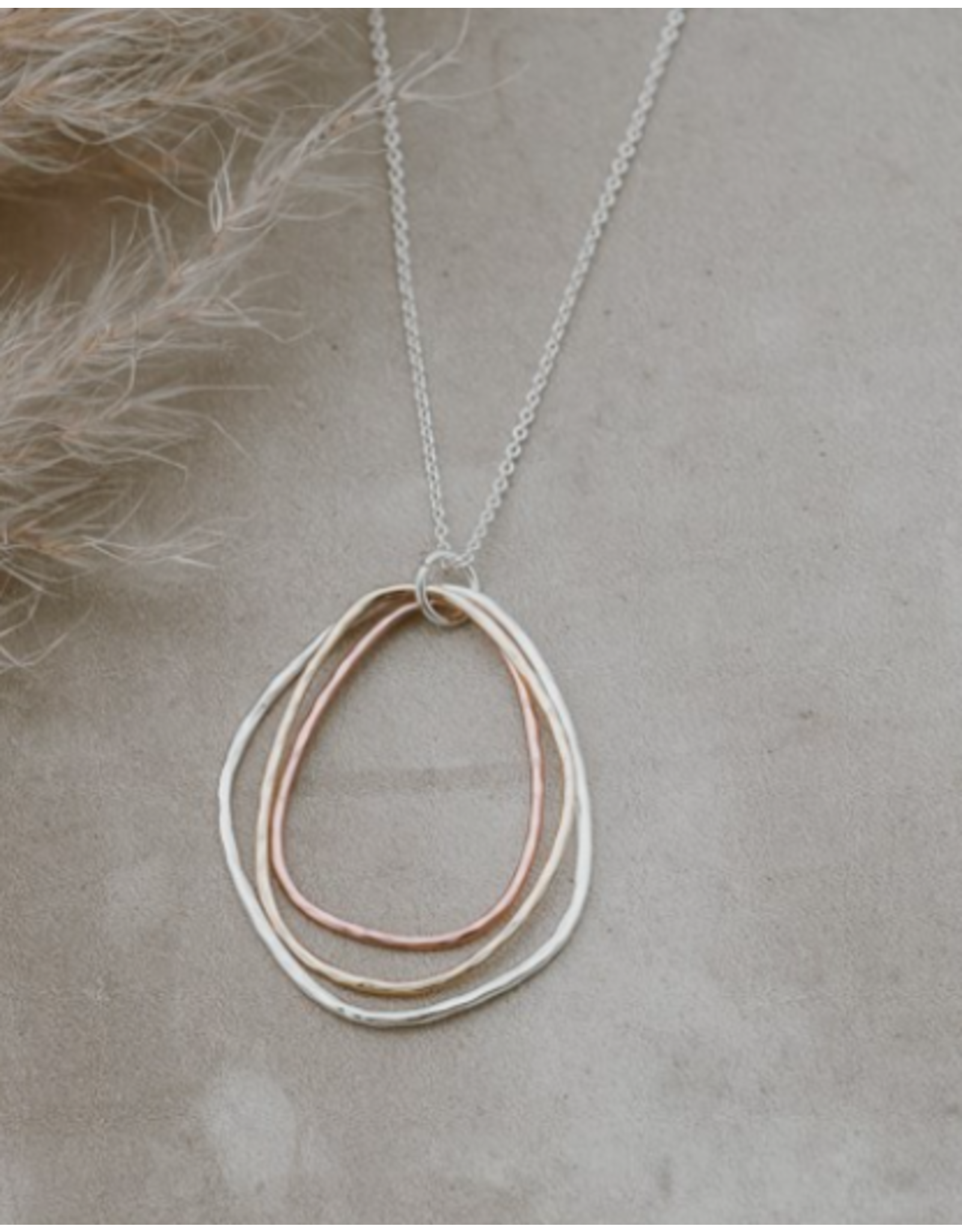 Glee jewelry Noa Necklace, Silver/Rose Gold/Gold
