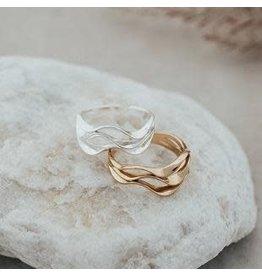 Glee jewelry Ripple Ring, Silver