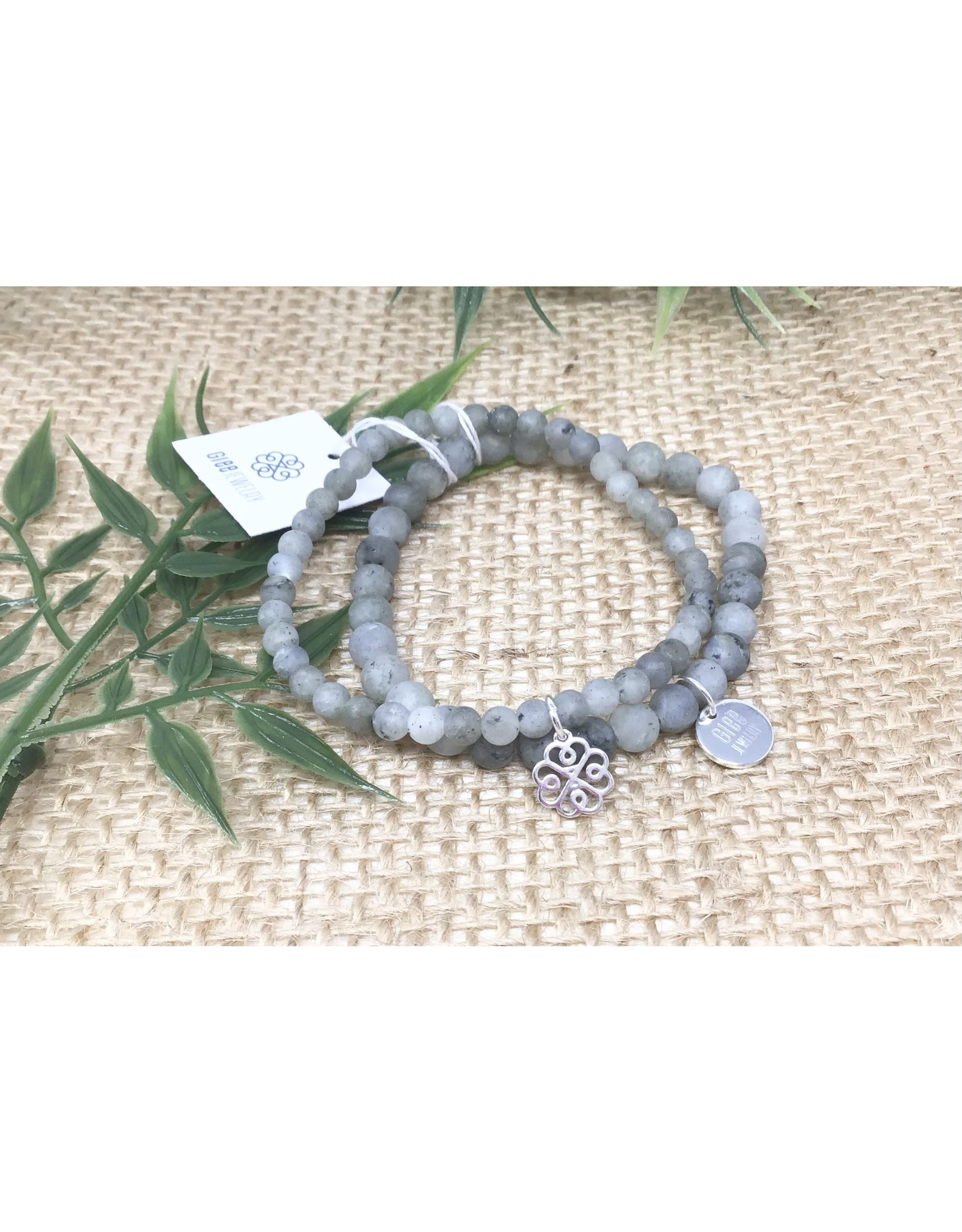 Glee jewelry Stackem Up Bracelets, Silver/Labradorite