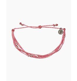 Pura Vida Silver Milabu Bracelet, Blossom Pink