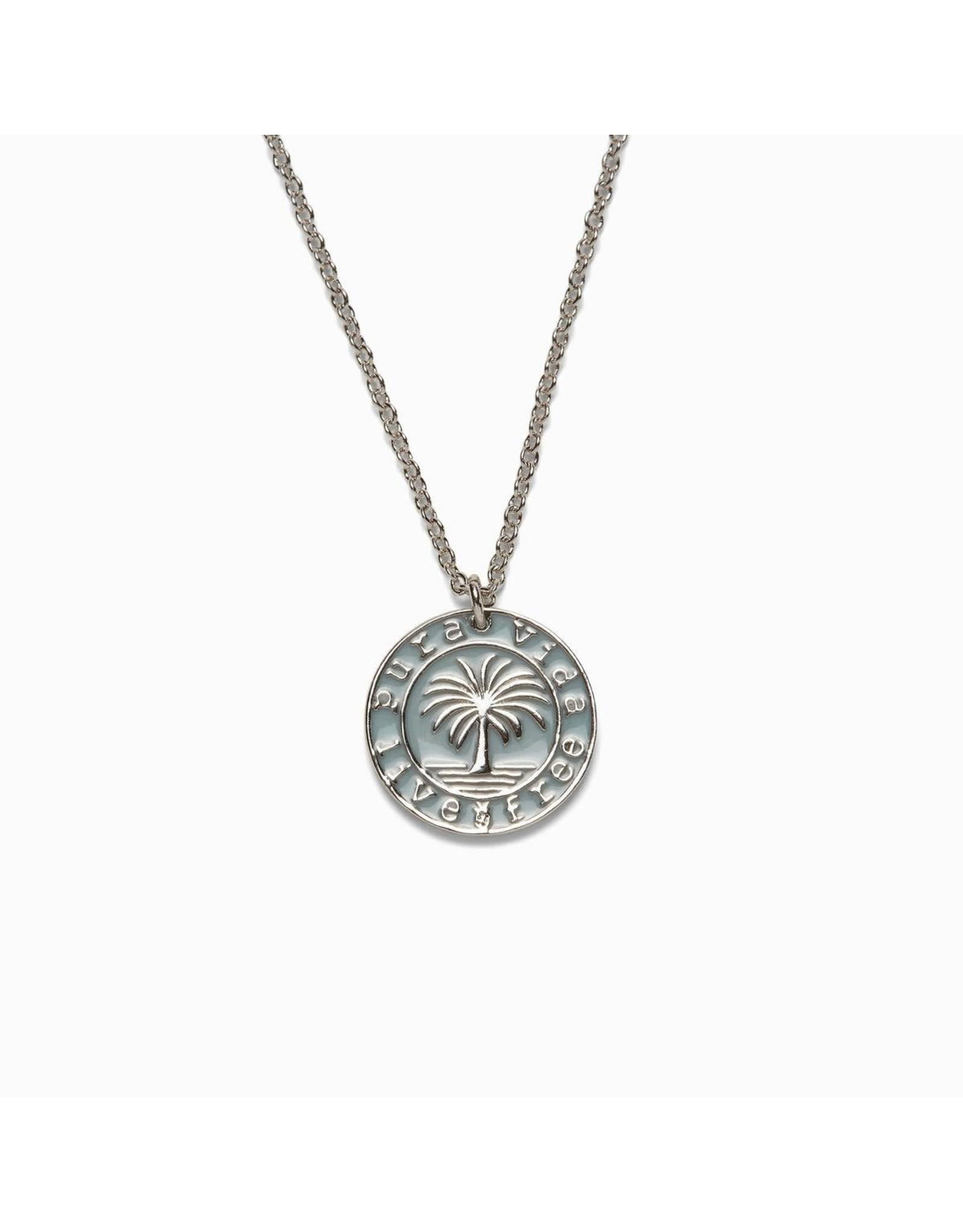 Pura Vida Pura Vida Medallion Necklace, Silver