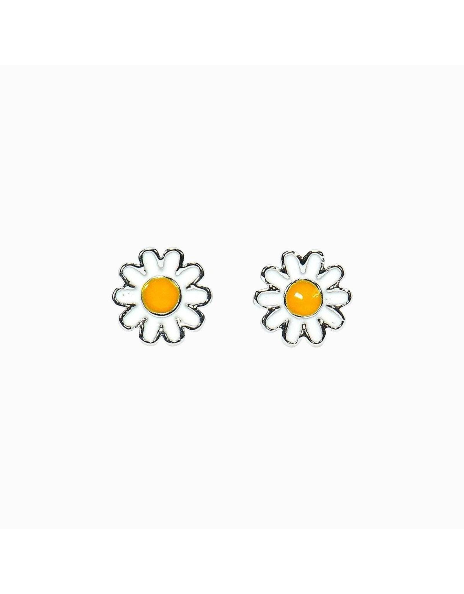 Pura Vida Daisy Stud Earrings, Silver