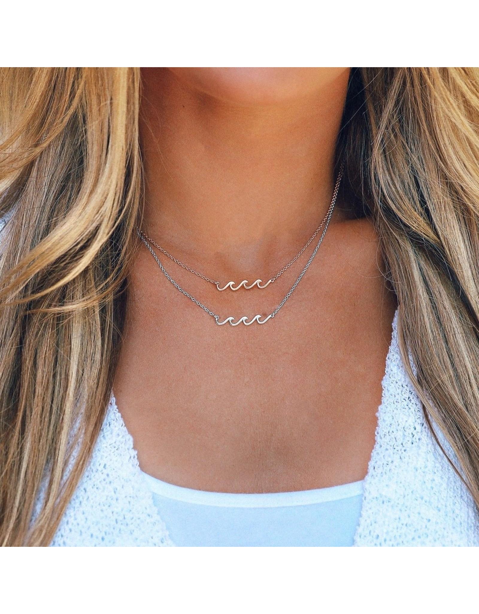 Pura Vida Delicate Wave Necklace, Silver