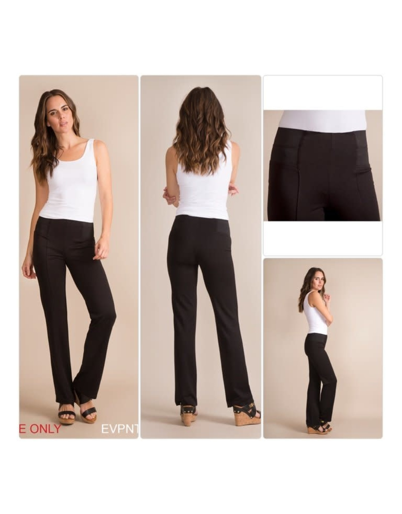 Simply Noelle Black Straight Leg Pant