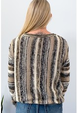 Dex Sweater Scoop Neck Stripes